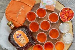 making peach Jello shots