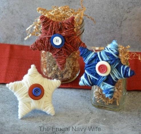 yarn stars 4th of July craft
