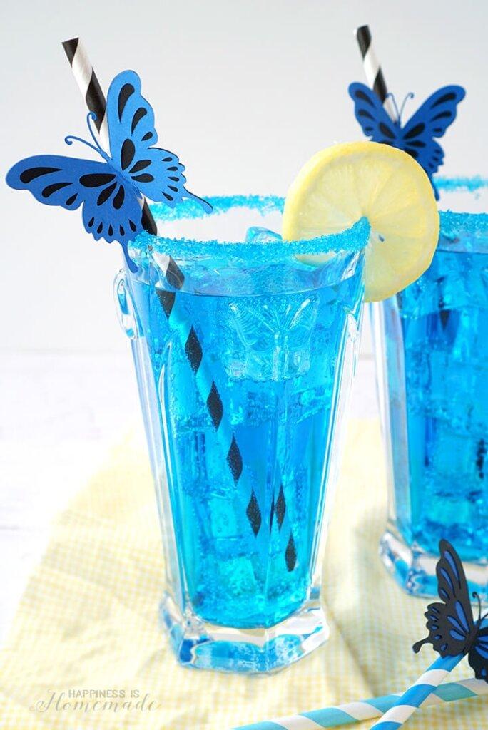 blue lemonade with lemons