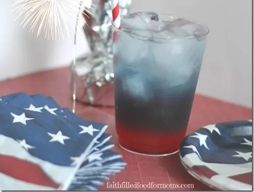 red white and blue party drink for kids