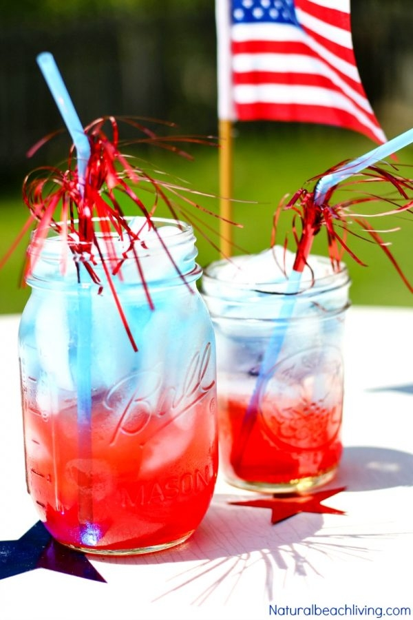 red white and blue kid friendly punch