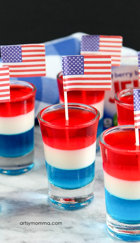 red white and blue jello shooters for kids