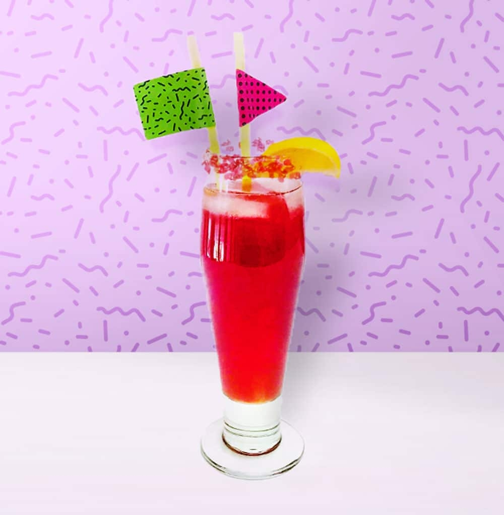 bright red party punch made with Pop Rocks