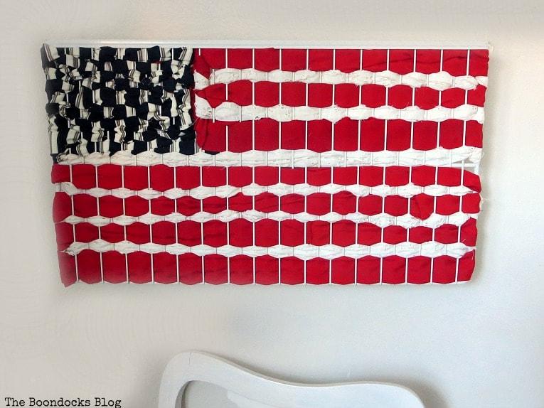 fabric art American flag