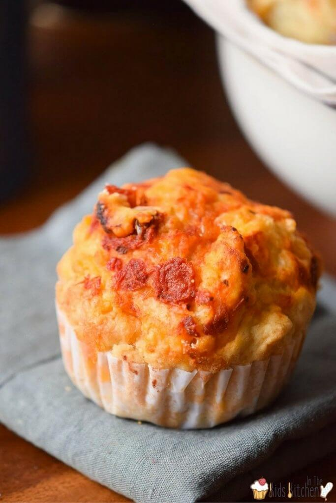 pizza flavored muffins