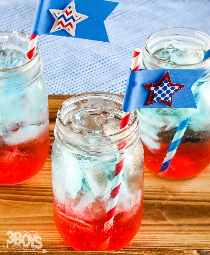 red white and blue drink for kids