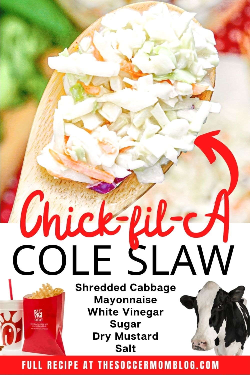 list of ingredients to make chick-fil-a coleslaw
