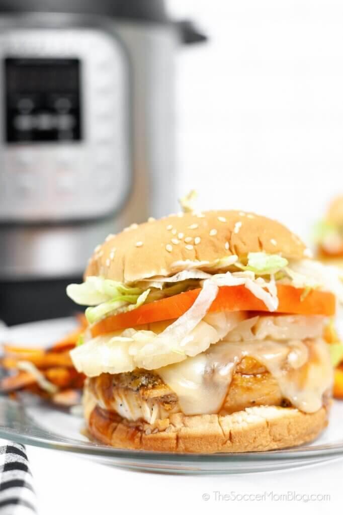 chicken teriyaki burger and Instant Pot