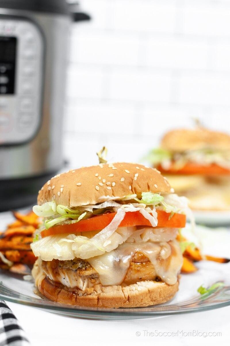 copycat Red Robin teriyaki chicken burger