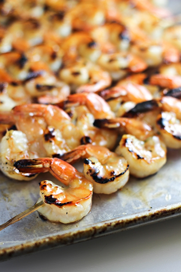grilled shrimp with coconut lime marinade