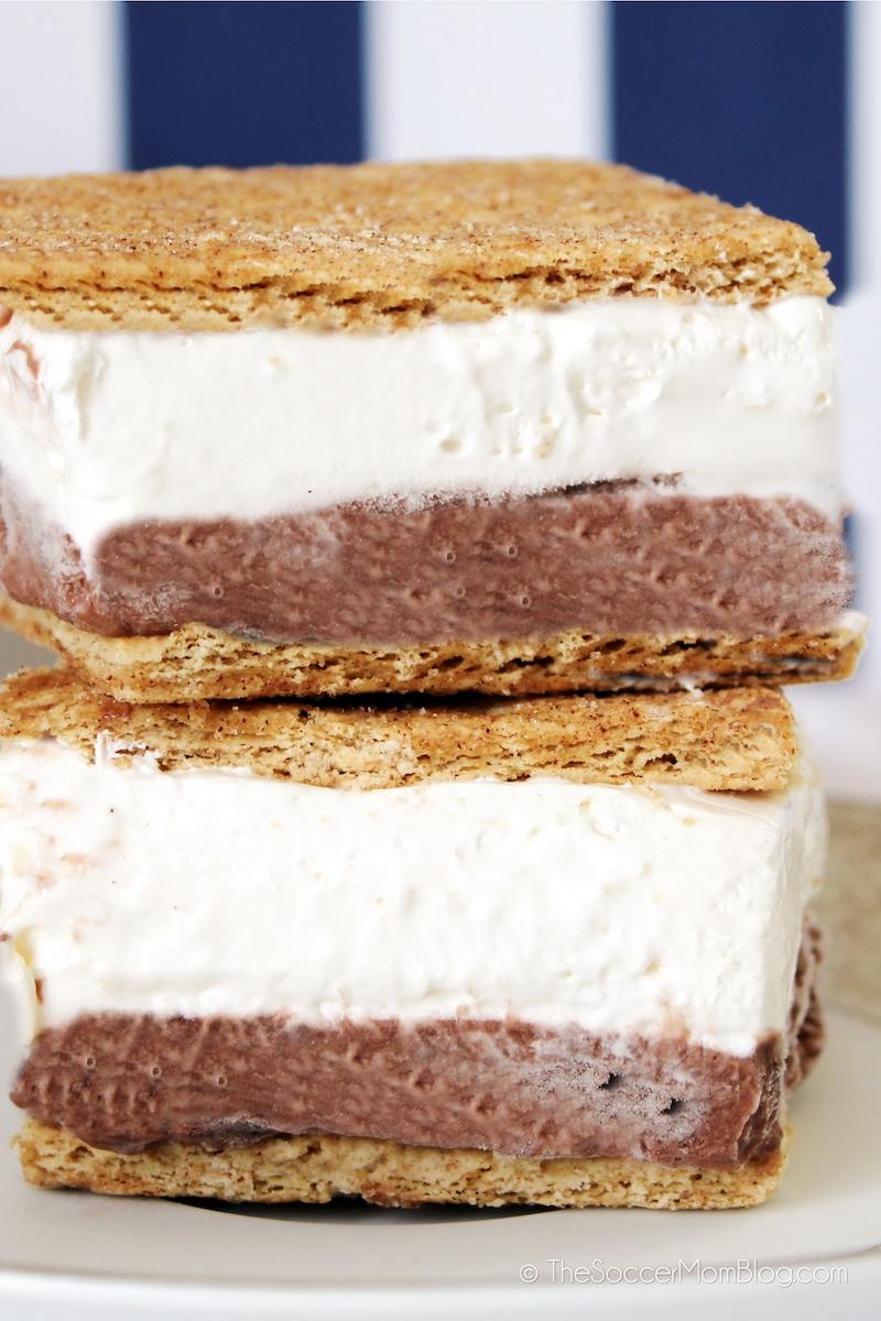 layered frozen s'mores dessert