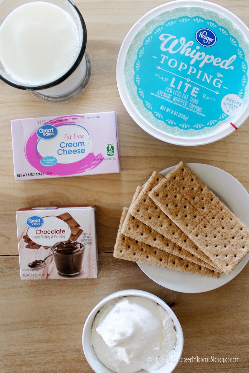 frozen s'mores ingredients