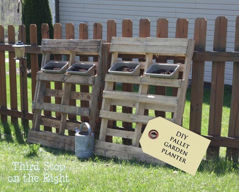 wooden pallet garden idea
