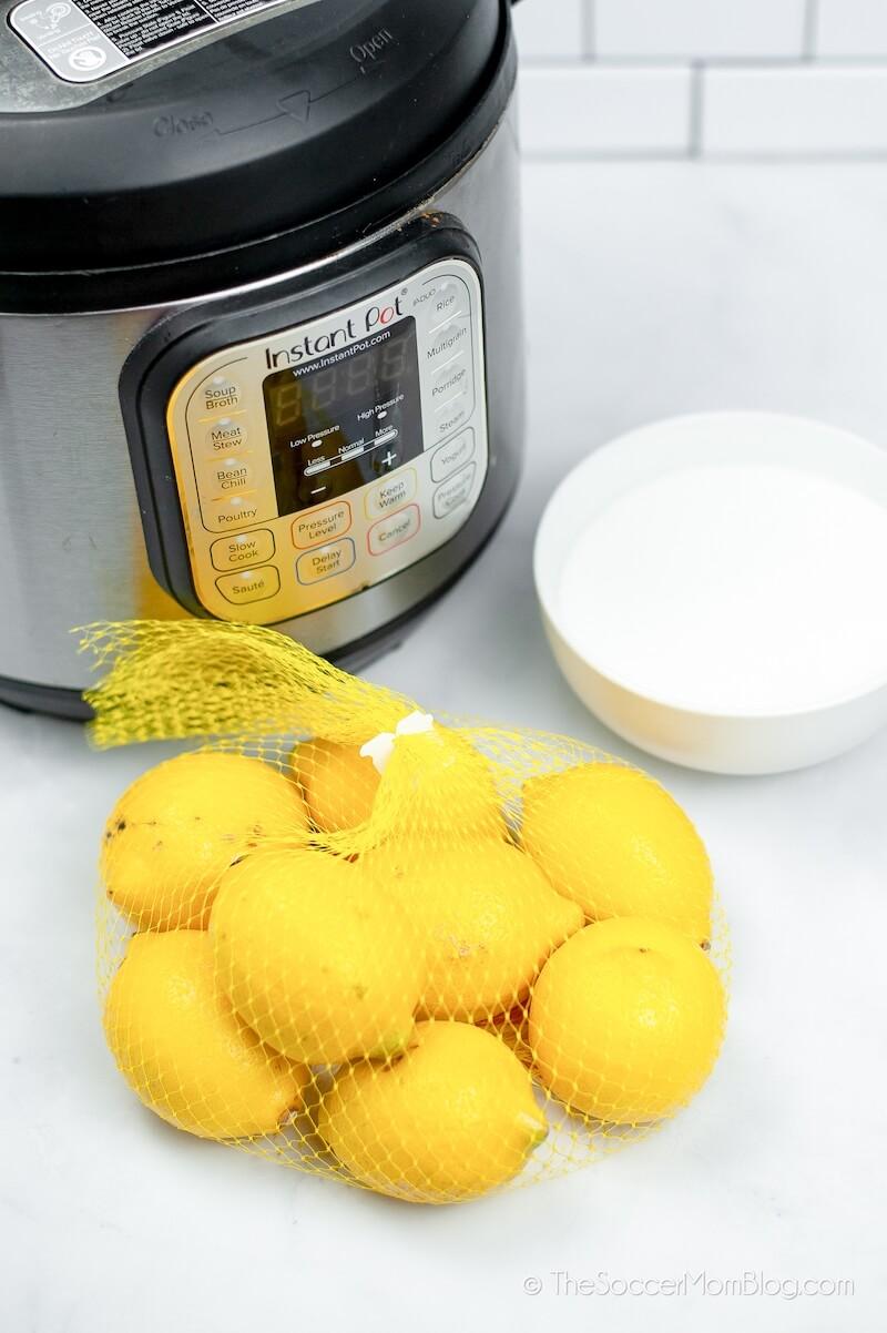 Instant Pot and a bag of lemons