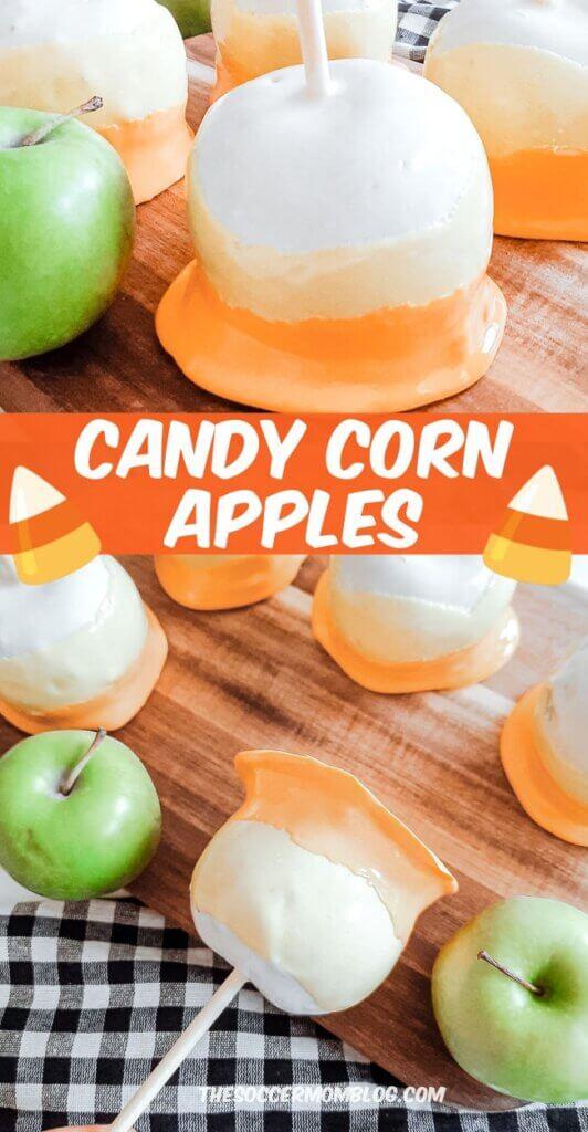 Candy Corn Apples Pinterest Image