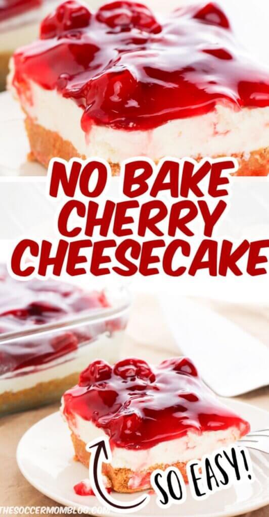 No Bake Cherry Cheesecake Pinterest Image