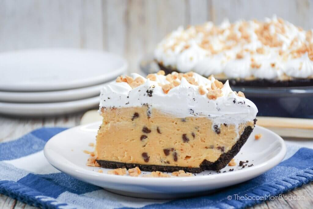 Peanut Butter Toffee Pie on a plate