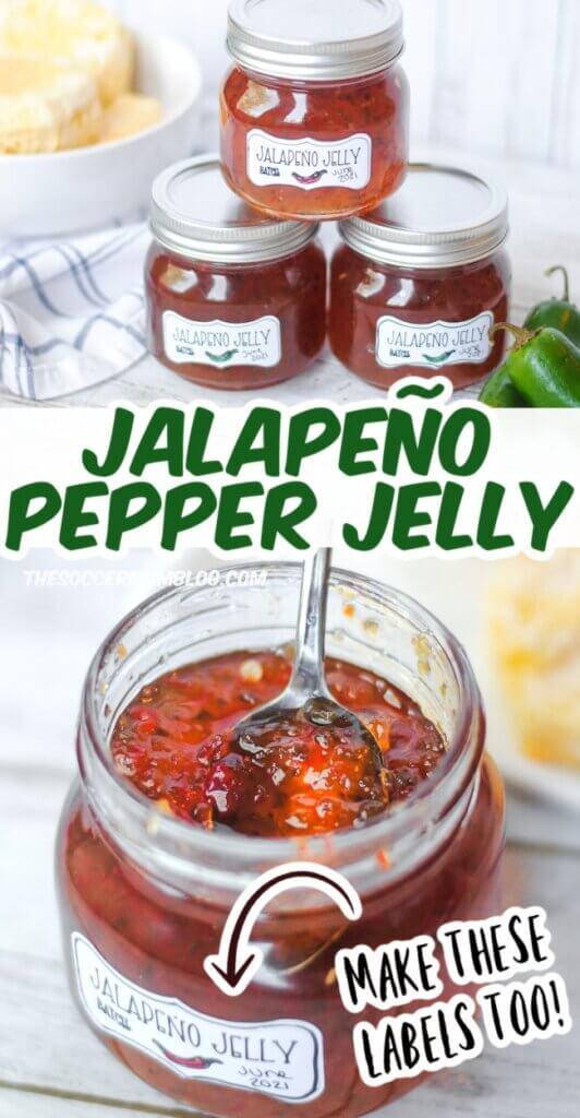 jars of homemade jalapeño pepper jam