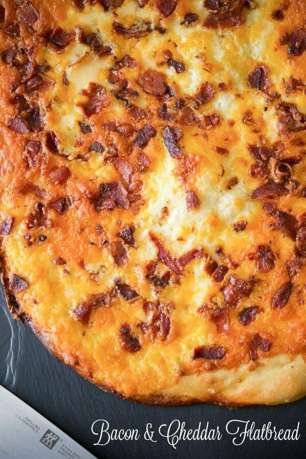 bacon cheddar flatbread