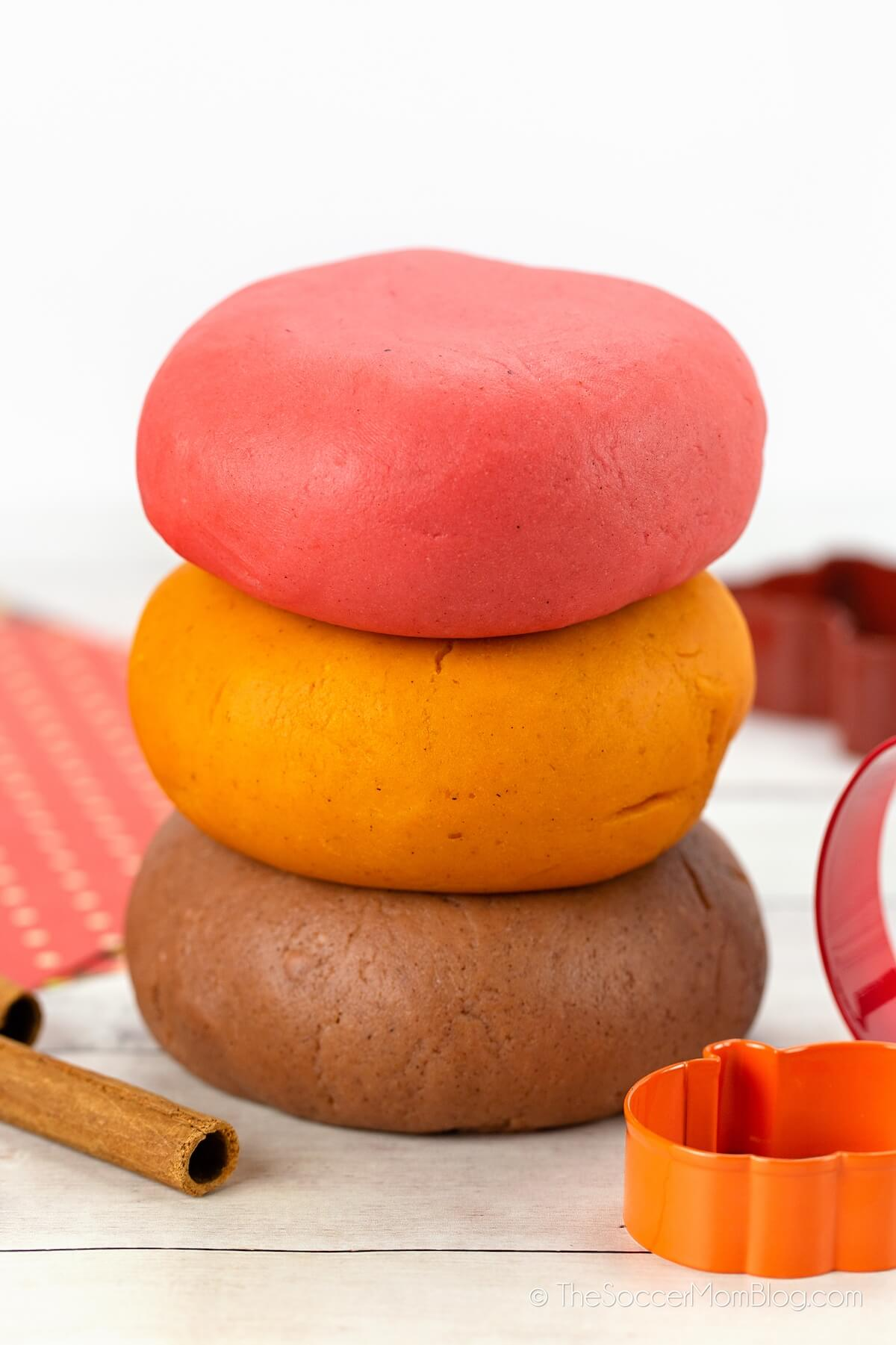 3 different scented fall playdough recipes