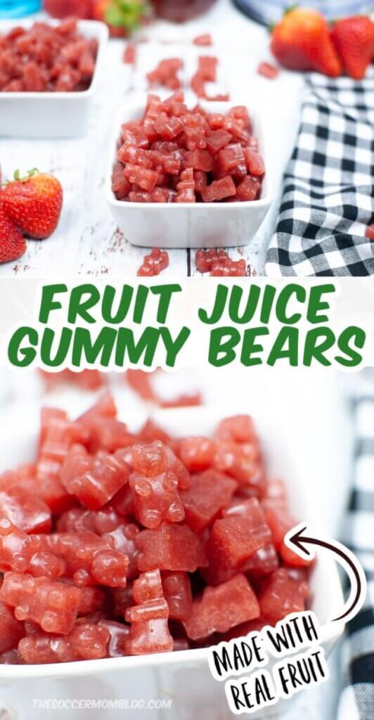 Fruit Juice Gummy Bears pinterest style image