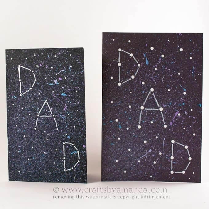 constellation themed Father's Day card idea