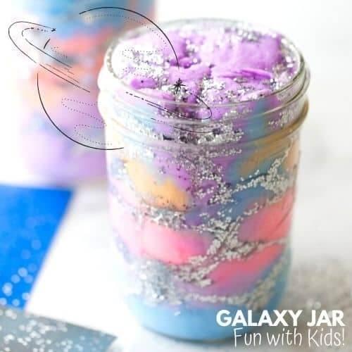 glutter galaxy jar craft for kids