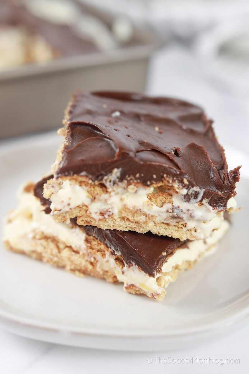slices of chocolate eclair cake