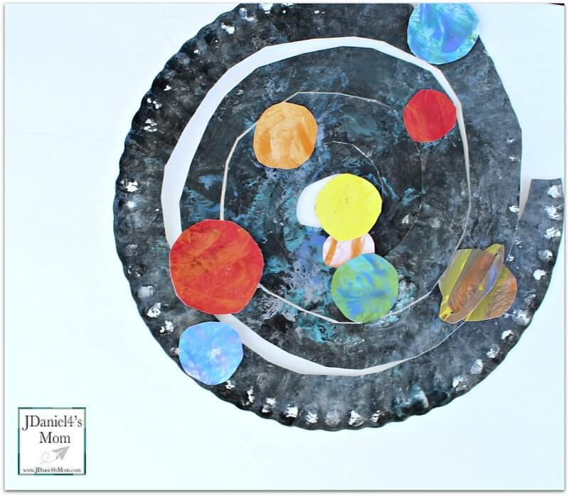 solar system paper plate craft