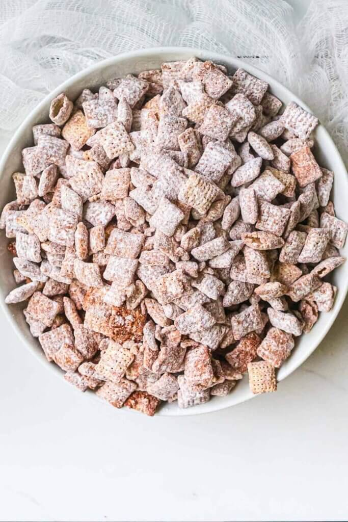 chocolate cereal snack mix
