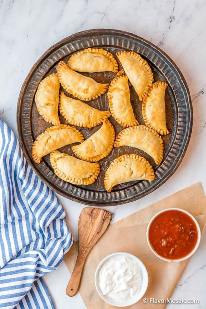plate of chicken empanadas