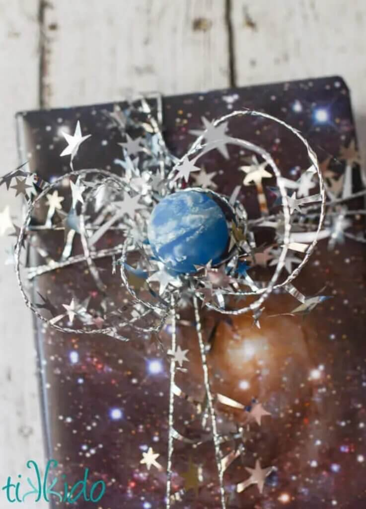 space themed gift wrap
