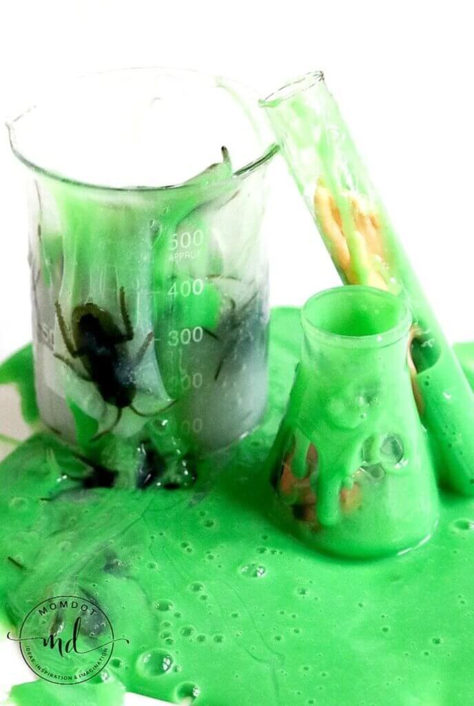 green slime in beaker