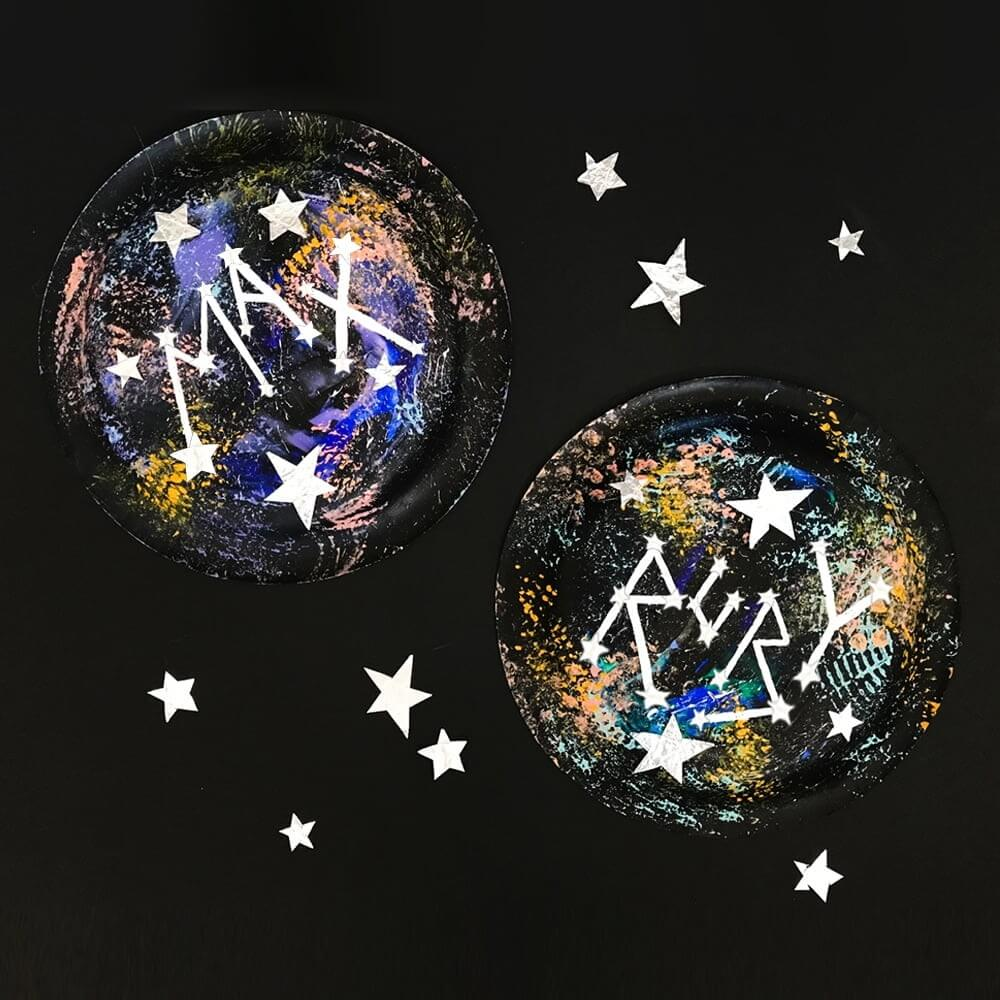 space themed art project for kids