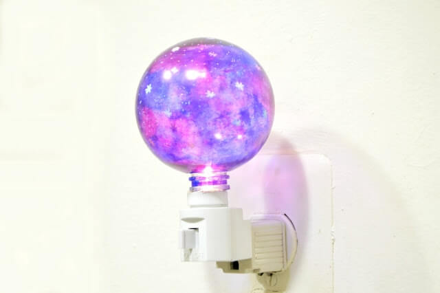 galaxy coated night light for kids