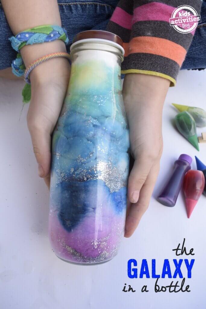 sensory bottle craft with glitter