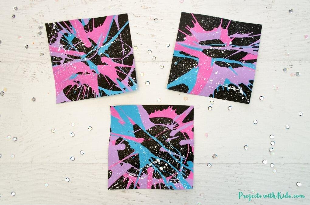 splatter galaxy spin art