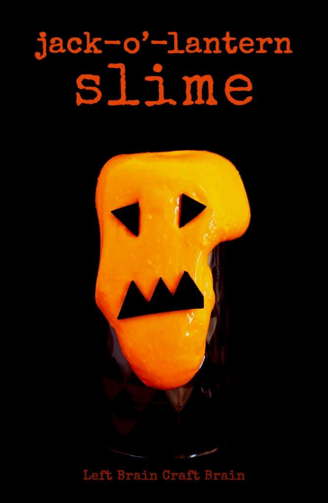 orange slime with a jack-o-lantern face