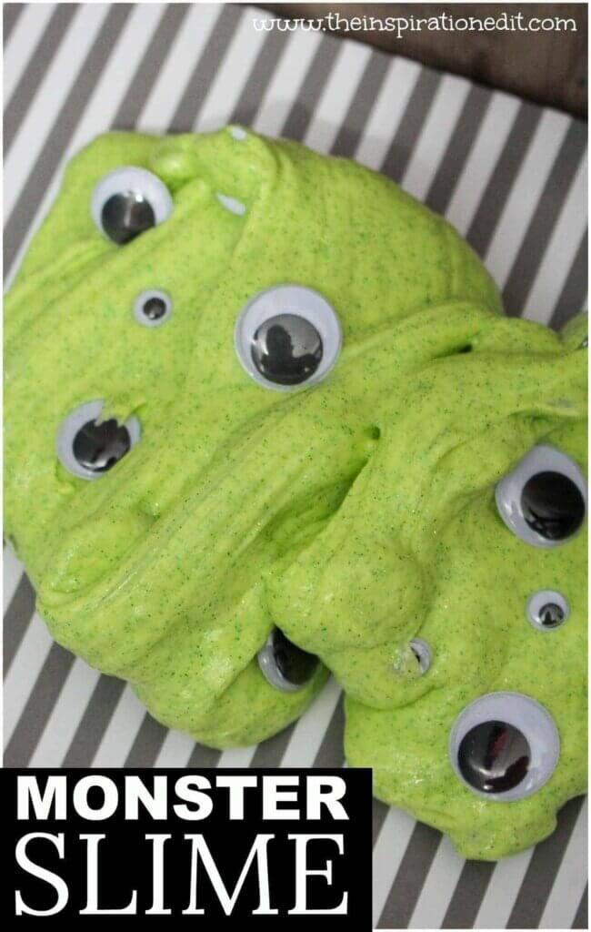 green slime with eyeballs