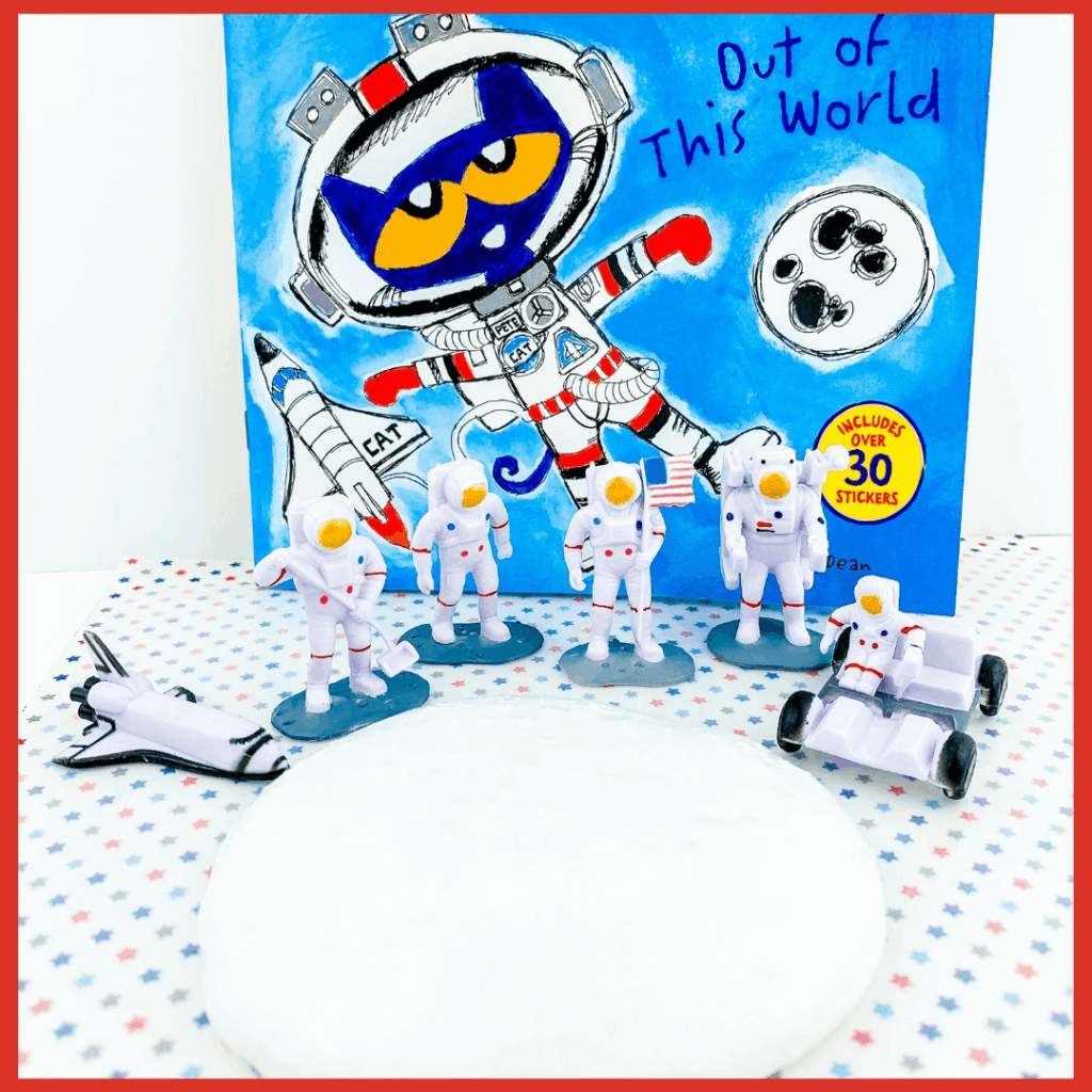 slime with Pete the Cat space book