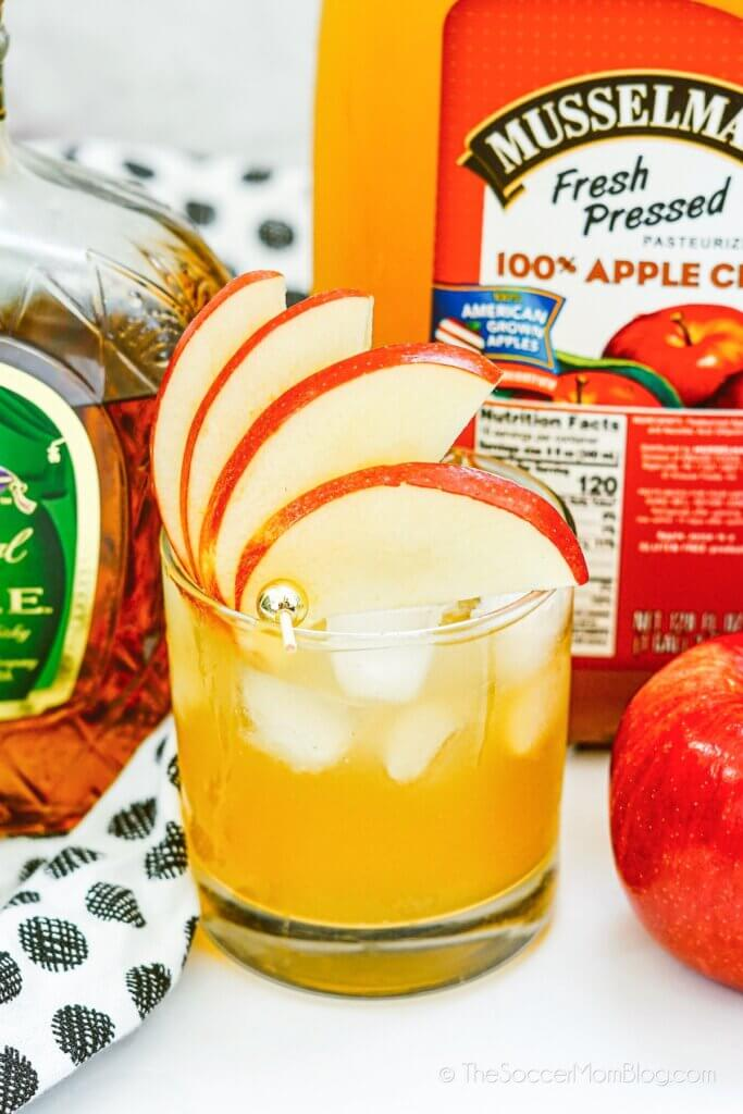 spiked apple cider made with Crown Apple whisky