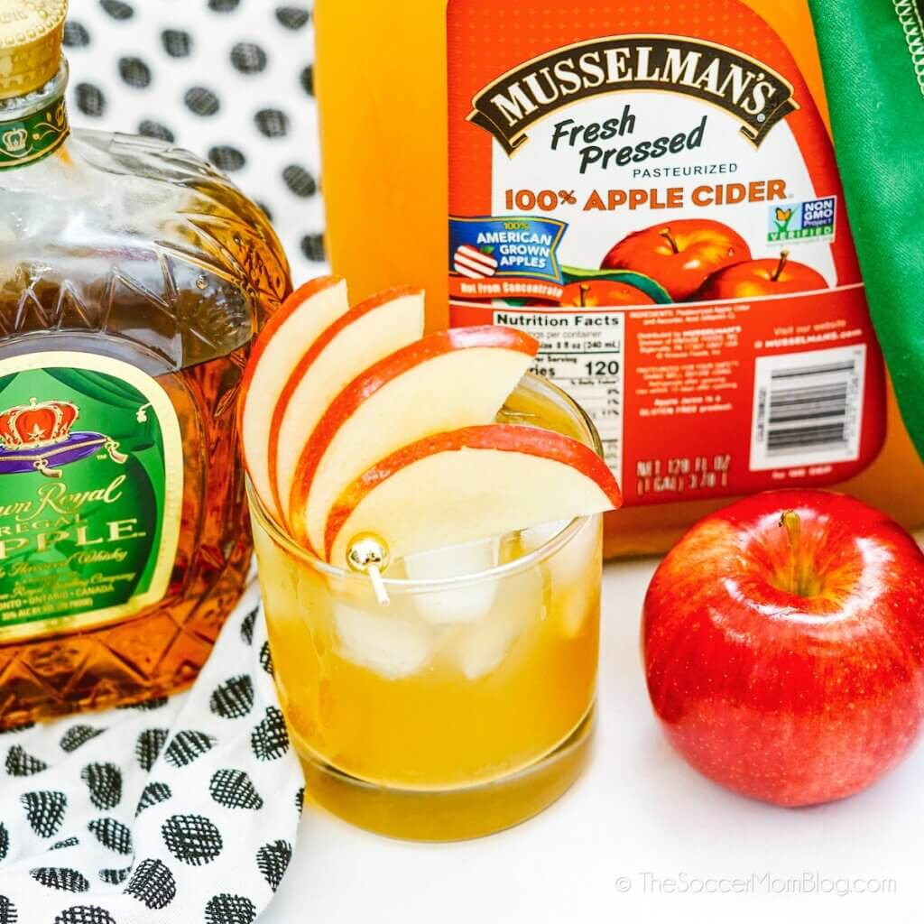 Crown Apple Cider made with Crown Royal Apple whisky