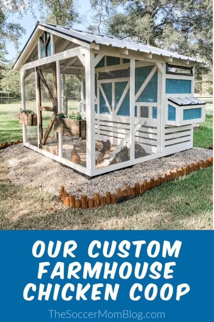 farmhouse style wooden chicken coop