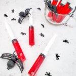 bloody syringe jello shots