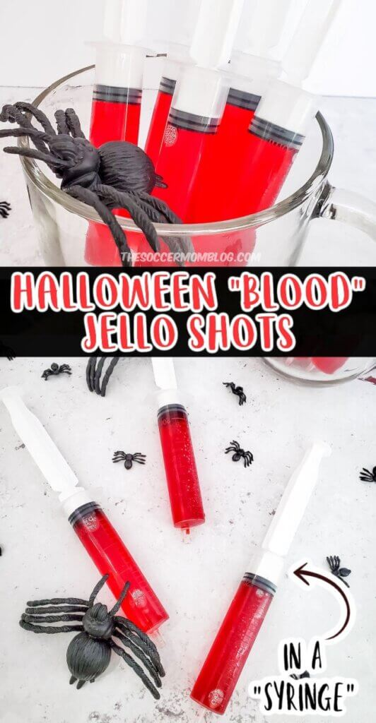 jello shots that look like bloody syringes