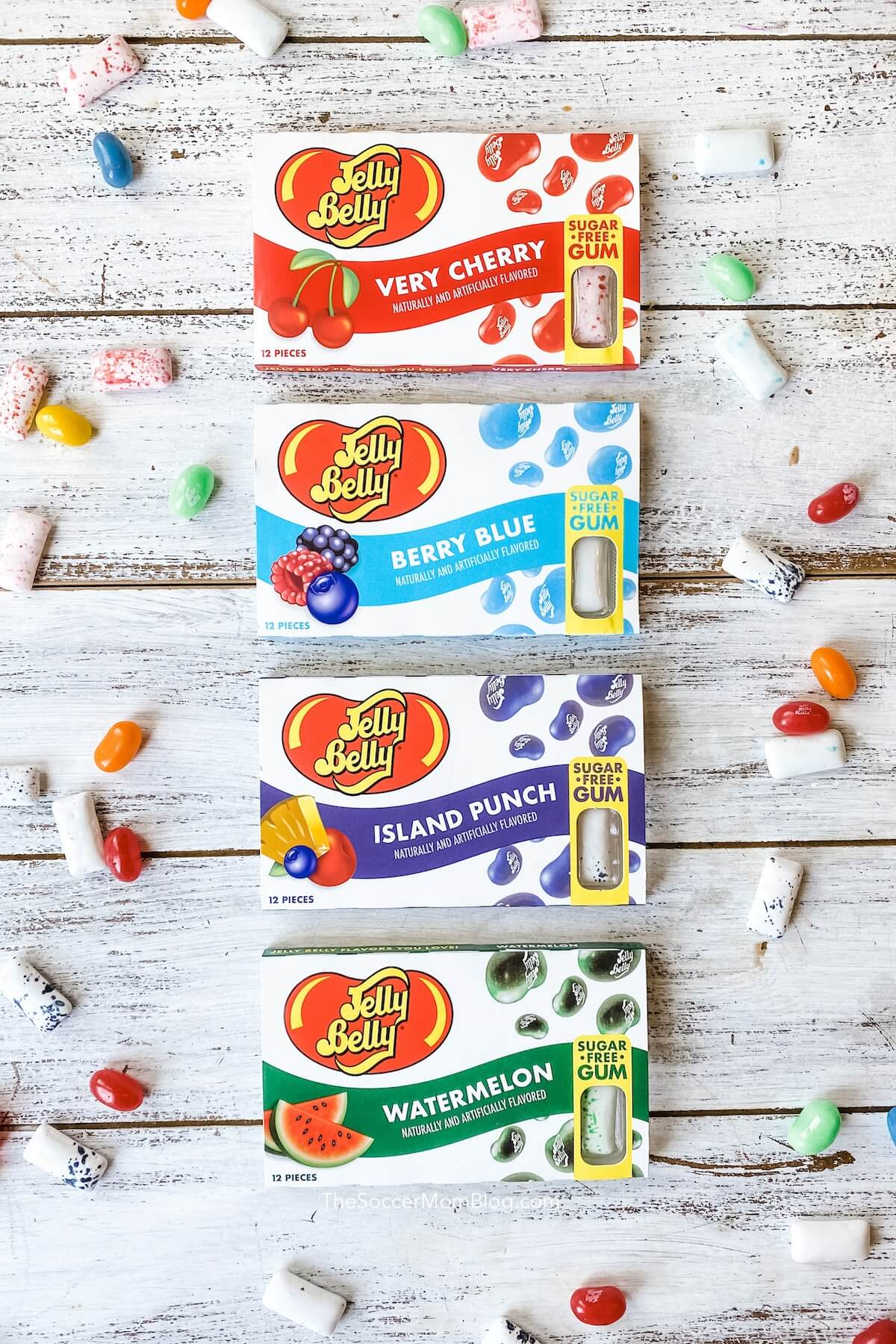 Jelly Belly gum flavors