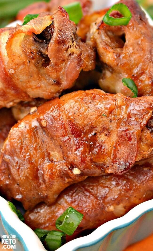 bacon wrapped chicken wings
