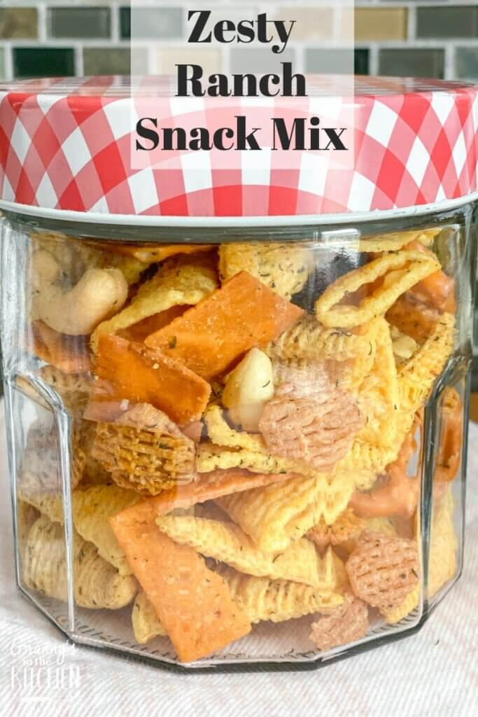 ranch snack mix in jar
