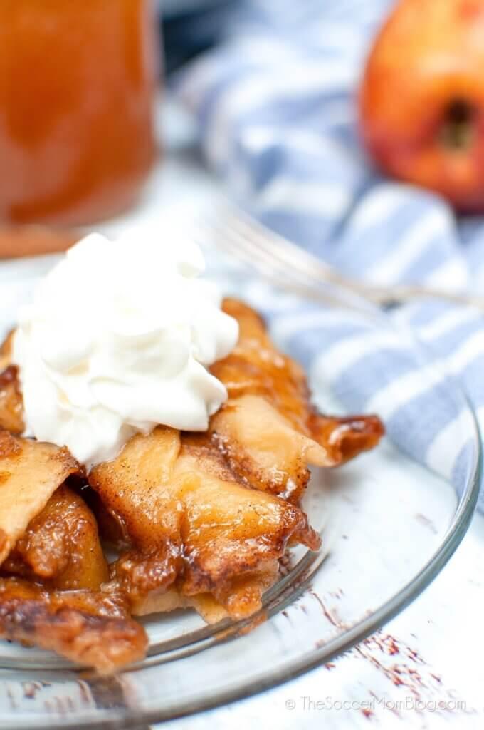 apple dumplings made from crescent rolls