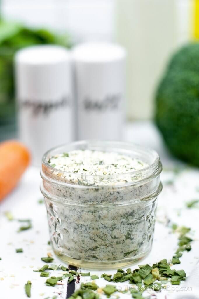 Homemade Ranch Seasoning in a jar